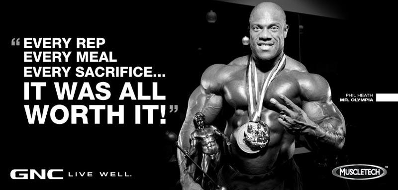Muscle Tech đang là nhãn hiệu tài trợ của quán quân Mr. Olympia: Phil Heath
