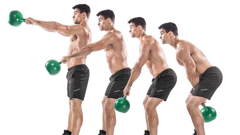Kettlebell Swings là bài tập thường được sử dụng trong Whole-body Training