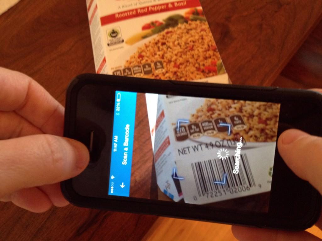MyFitnessPal có chế độ quét barcode