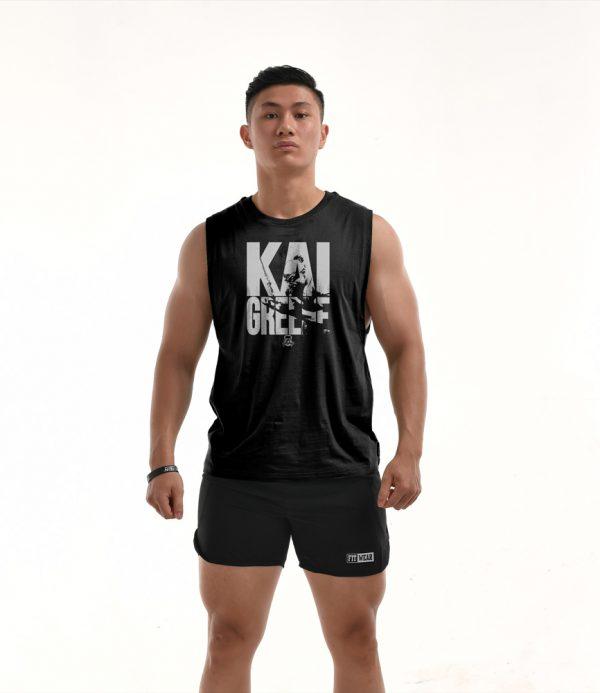 Áo tập gym Teecut Kai Greene - Black G