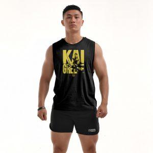 Áo tập gym Teecut Kai Greene - Black Y