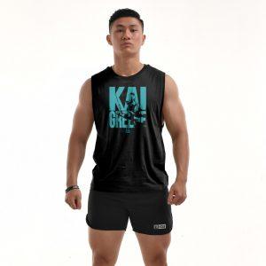 Áo tập gym Teecut Kai Greene - Black B