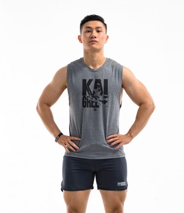 Áo tập gym Teecut Kai Greene - grey